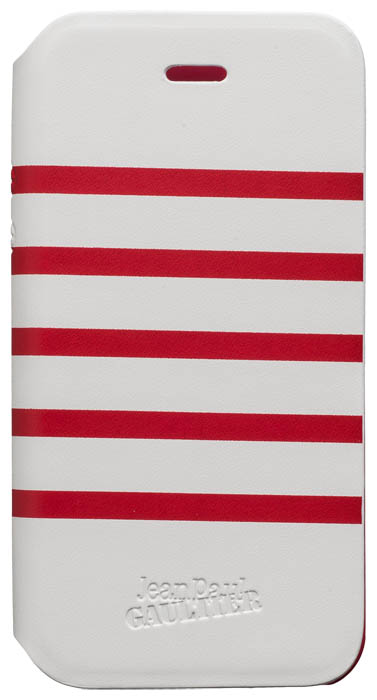 "Folio Case ""Marinière"" Jean Paul Gaultier (white & red) - Packshot"