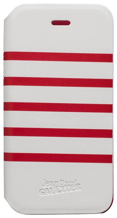 "Folio Case ""Marinière"" Jean Paul Gaultier (white & red) - Packshot"