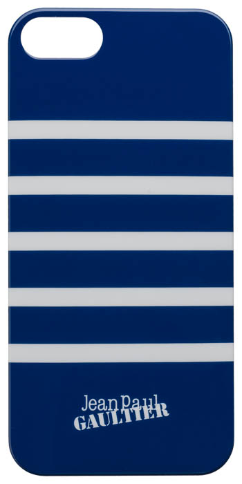 "Back cover ""Marinière"" Jean Paul Gaultier (navy & white) - Packshot"