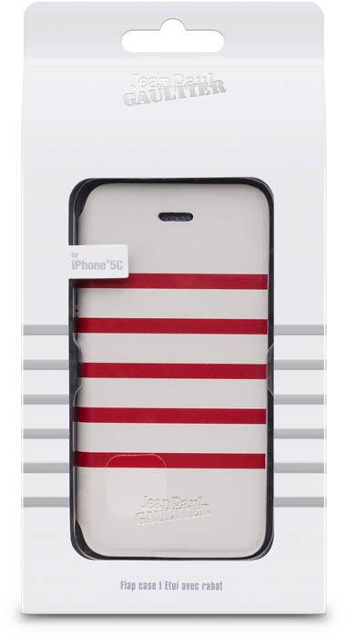 "Folio Case ""Marinière"" Jean Paul Gaultier (white & red) - Image"