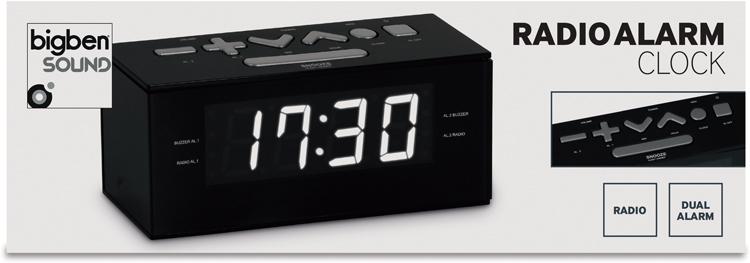 Radio alarm clock (Black) - Image