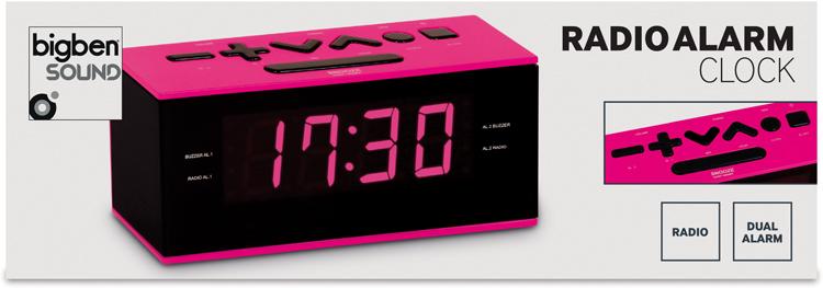 Radio alarm clock (Pink) - Image