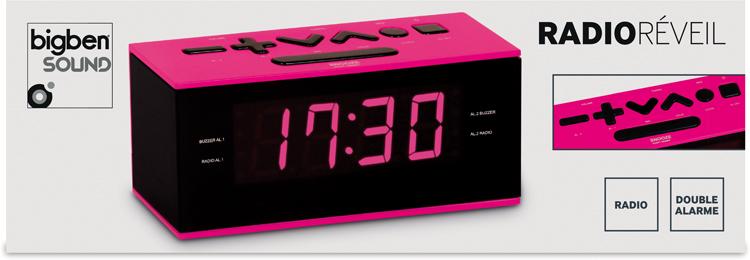 Radio alarm clock (Pink) - Image   #1
