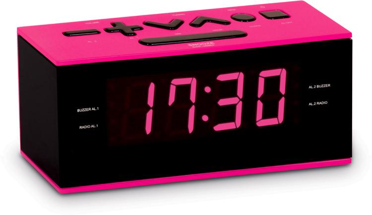 Radio alarm clock (Pink) - Packshot