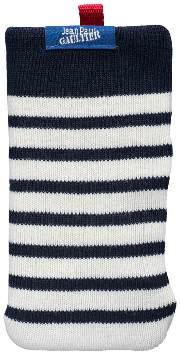 "Universal Mesh Sock Jean Paul Gaultier ""Marinière"" (white & navy) - Packshot"