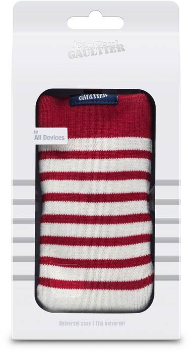 "Universal Mesh Sock Jean Paul Gaultier ""Marinière"" (white & red) - Image"