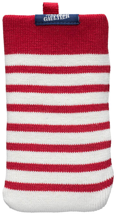 "Universal Mesh Sock Jean Paul Gaultier ""Marinière"" (white & red) - Packshot"