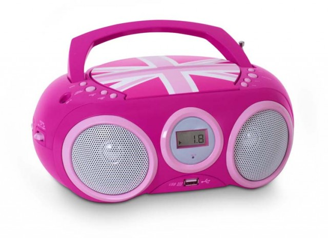 "Radio CD player with USB port ""Union Jack"" (Pink) - Image   #2"