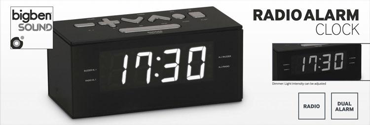Radio alarm clock (Black) - Image   #1