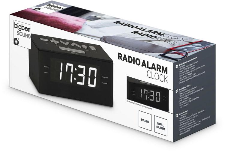 Radio alarm clock (Black) - Image   #2