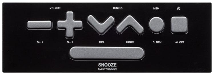 Radio alarm clock (Black) - Image   #3