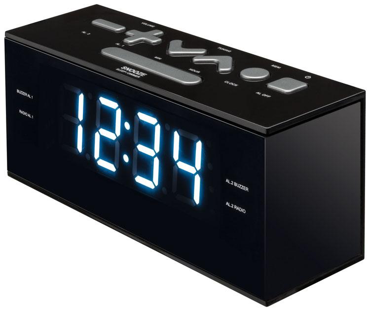Radio alarm clock (Black) - Image   #4