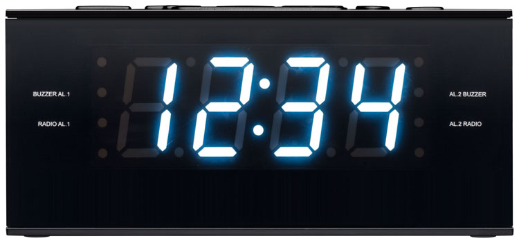 Radio alarm clock (Black) - Image   #5