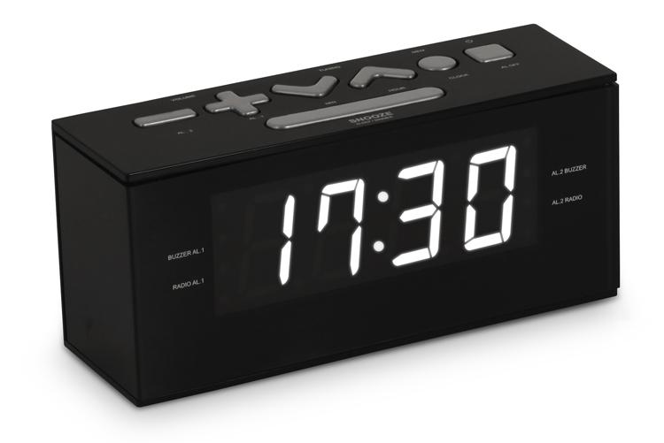 Radio alarm clock (Black) - Image   #6