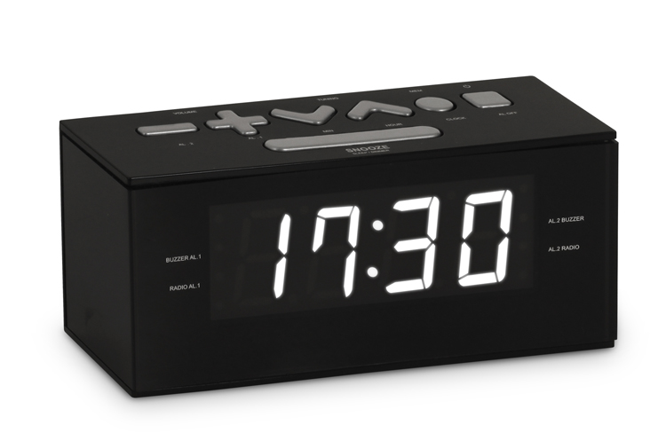 Radio alarm clock (Black) - Packshot