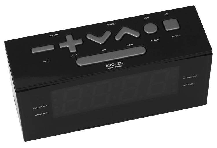 Radio alarm clock (Black) - Image   #7