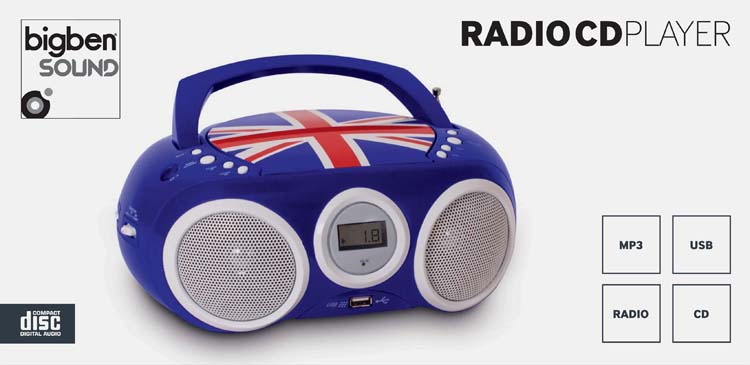 "Radio-CD player with USB port ""Union Jack"" - Image"
