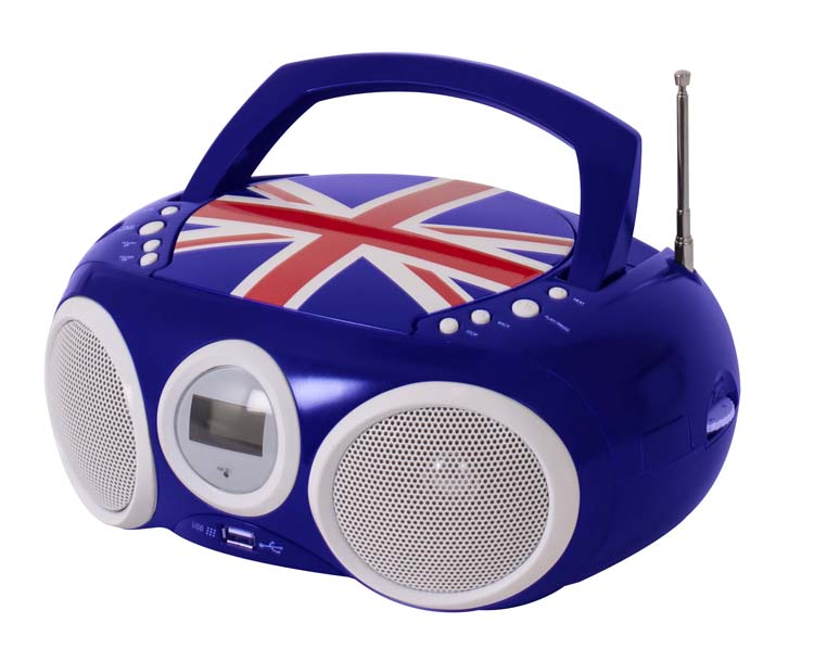 "Radio-CD player with USB port ""Union Jack"" - Packshot"