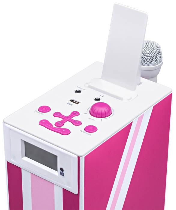 "Multimedia tower with karaoke function ""Union Jack"" (Pink) - Image   #2"
