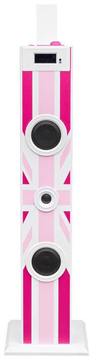 "Multimedia tower with karaoke function ""Union Jack"" (Pink) - Image   #3"