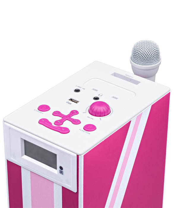 "Multimedia tower with karaoke function ""Union Jack"" (Pink) - Image   #4"