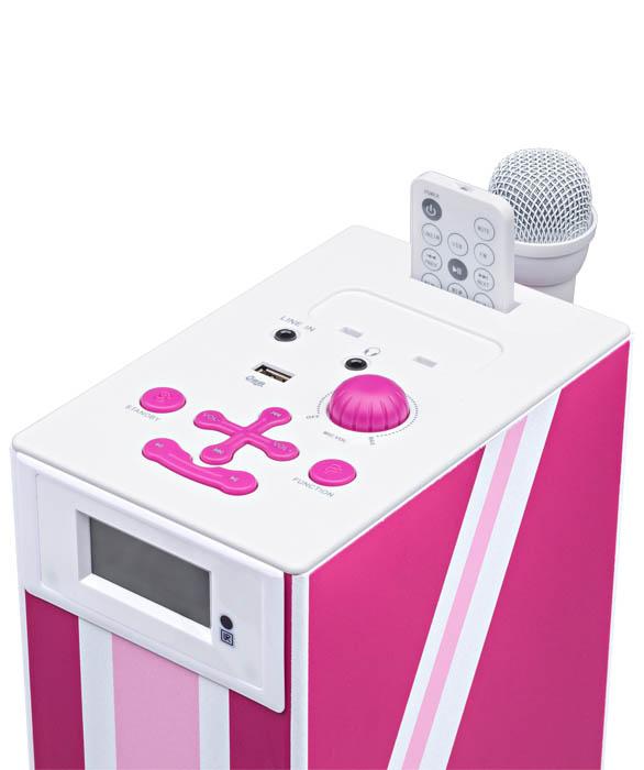 "Multimedia tower with karaoke function ""Union Jack"" (Pink) - Image   #5"