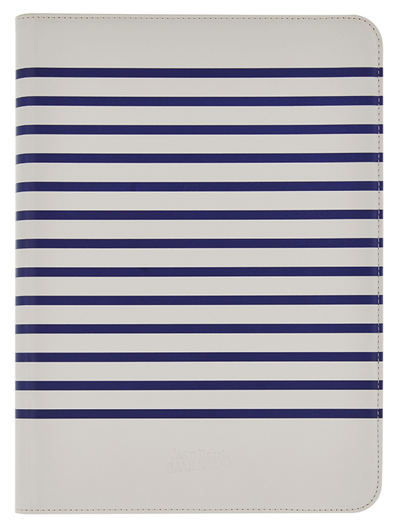 Jean-Paul Gaultier Tablet folio case (White&navy) - Packshot