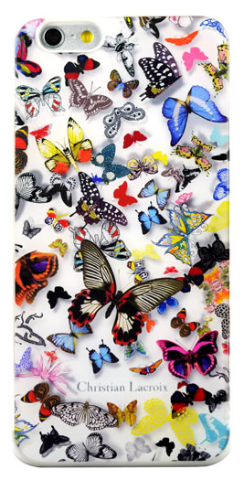 "CHRISTIAN LACROIX Hard case ""Butterfly Parade"" (Opalin) - Packshot"