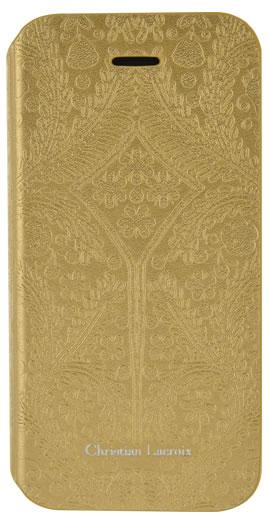 "CHRISTIAN LACROIX folio case ""Paseo Oro y Plata"" (Gold) - Packshot"