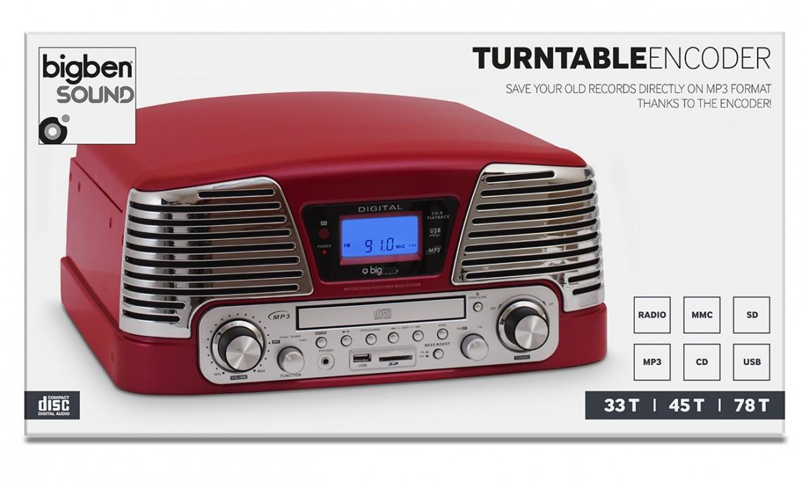 "Turntable Encoder ""60's"" (Broadway Burgundy) - Image"