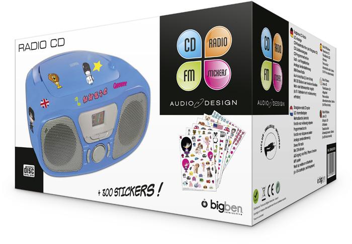 "Radio CD Player ""Kidzy"" Ice Blue (+ Stickers) – Image"