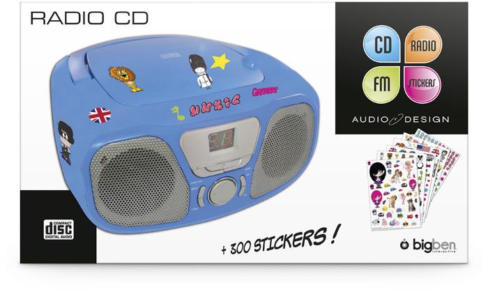 "Radio CD Player ""Stick"" (Blue) - Image"