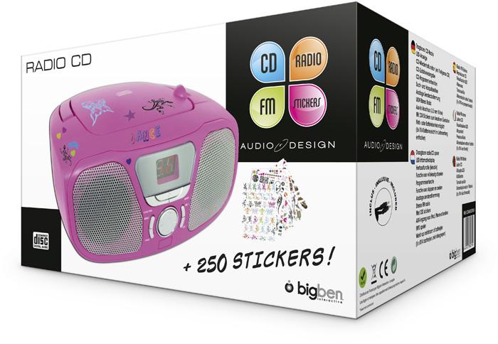 "Radio CD Player ""Stick"" (Pink) - Image   #2"