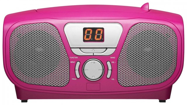 """Radio CD Player """"Stick"""" (Pink) - Packshot"""