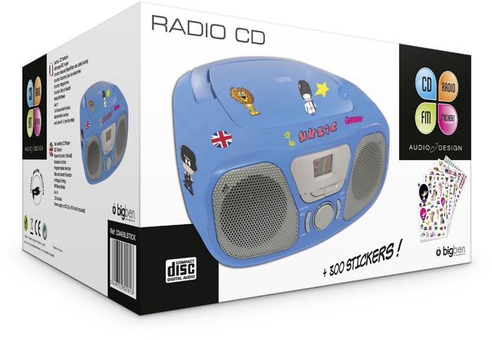 "Radio CD Player ""Stick"" (Blue) - Image   #2"