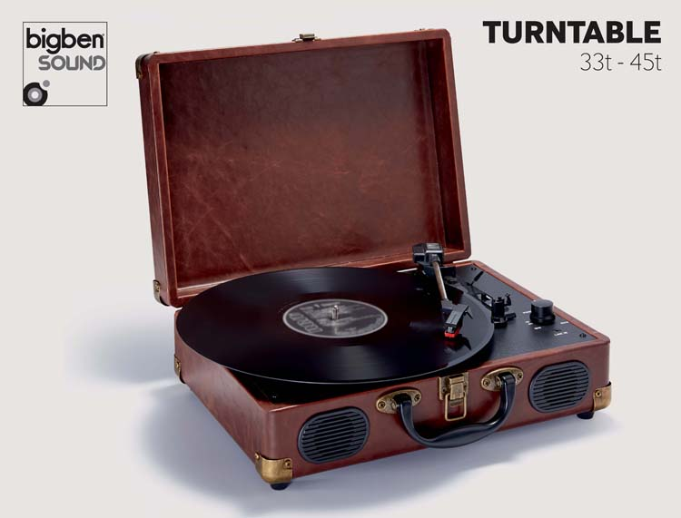 """Suitcase"" Turntable (Leather) - Image"