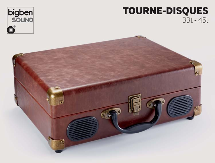 """Suitcase"" Turntable (Leather) - Image   #1"