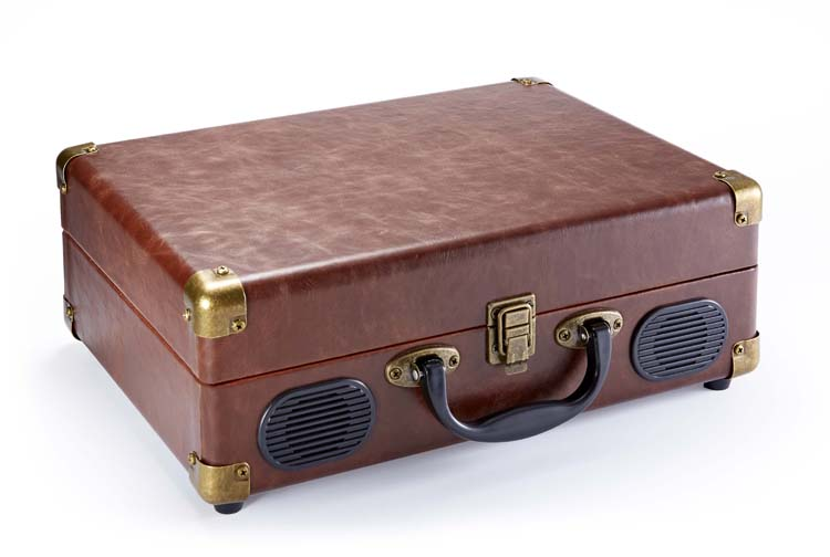 """Suitcase"" Turntable (Leather) - Image   #2"