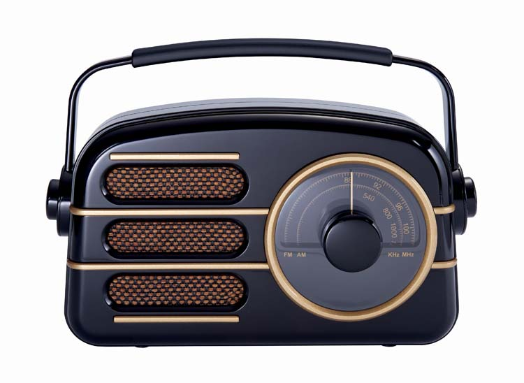 """Art Deco"" Portable Radio - Packshot"
