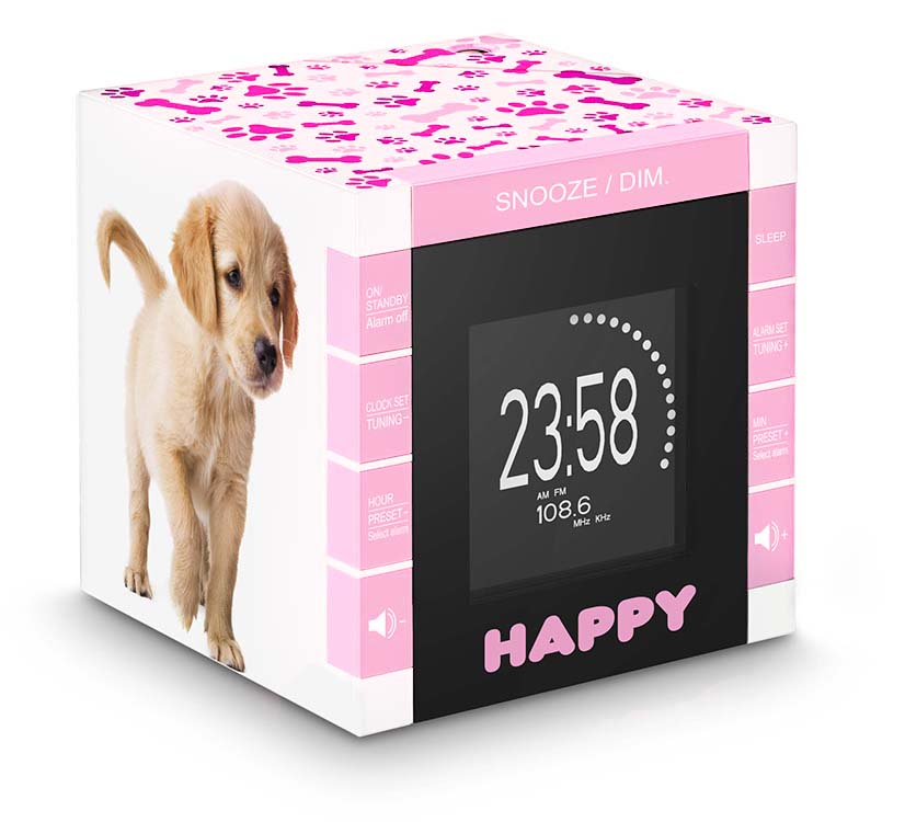 "Radio Alarm Clock ""Happy Cube"" - Image"