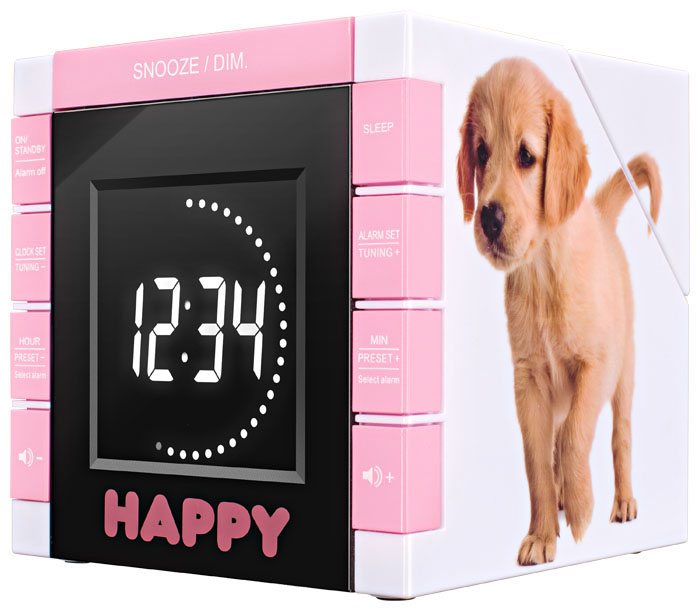"Radio Alarm Clock ""Happy Cube"" - Image   #2"