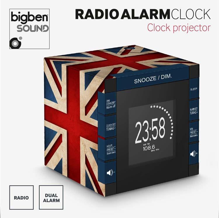 "Radio Alarm Clock Projector ""Union Jack"" - Image"