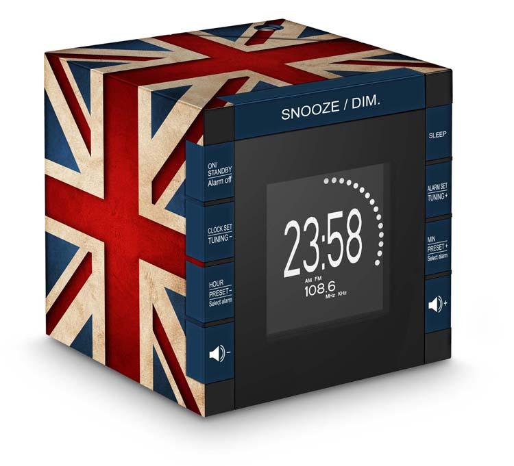 "Radio Alarm Clock Projector ""Union Jack"" - Image   #1"
