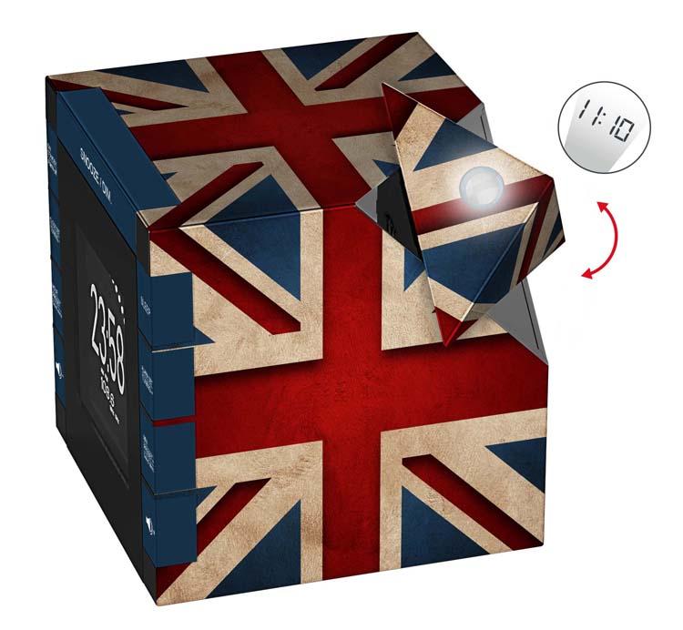 "Radio Alarm Clock Projector ""Union Jack"" - Image   #2"