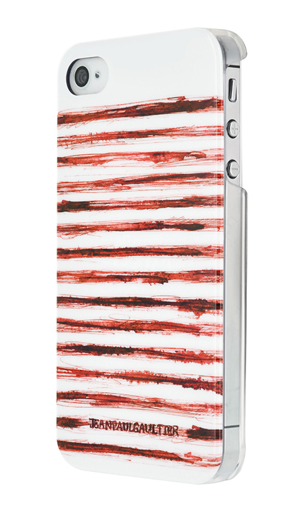 "Jean Paul Gaultier Hard Case ""Marinière"" (Red and White) - Image"