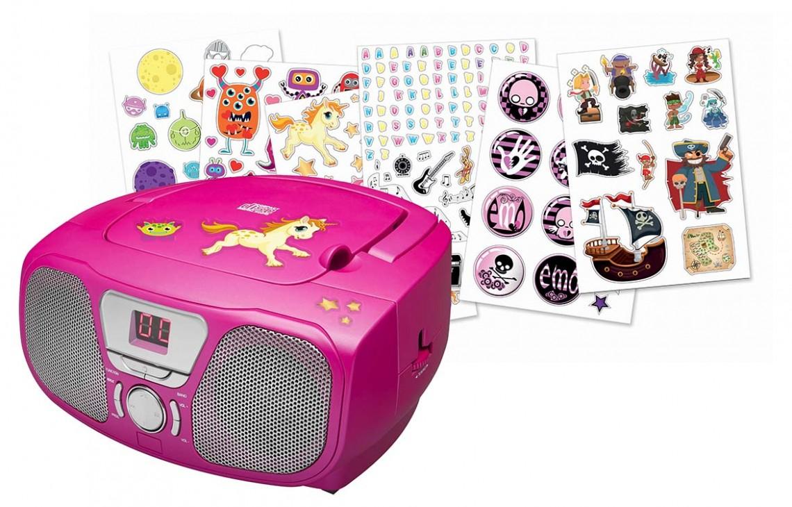 "Radio CD Player ""Stick"" (Pink) - Image   #5"