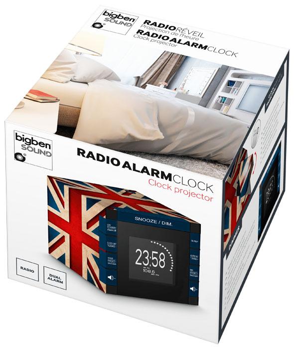 "Radio Alarm Clock Projector ""Union Jack"" - Image   #4"