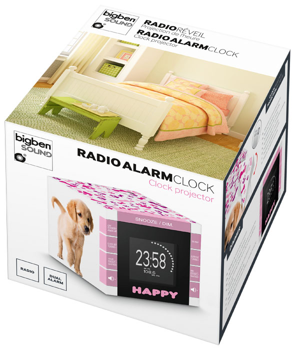 "Radio Alarm Clock ""Happy Cube"" - Image   #4"