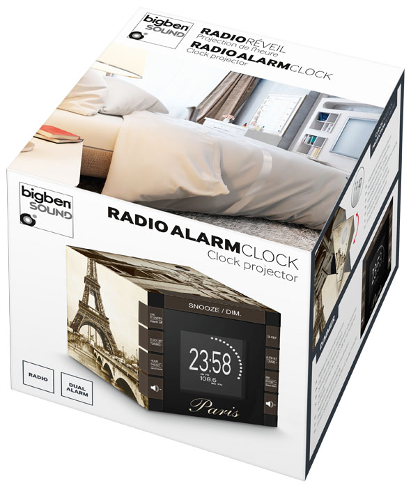 "Radio Alarm Clock Projector ""Paris"" - Image"