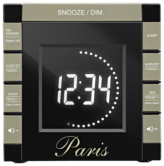 "Radio Alarm Clock Projector ""Paris"" - Image   #2"